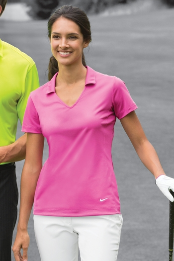86073a56 Nike Golf - Ladies Dri-FIT Vertical Mesh Polo. 637165