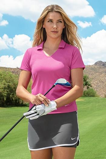 d74c45858 Nike Golf - Ladies Dri-FIT Vertical Mesh Polo. 637165