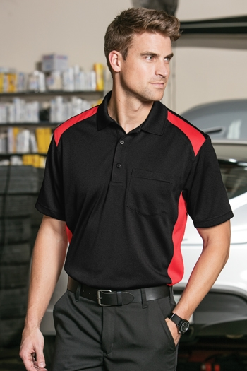 07b6cd35 CornerStone® Select Snag-Proof Two Way Colorblock Pocket Polo. CS416  Larger Photo Email A Friend