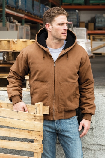 CornerStone - Washed Duck Cloth Insulated Hooded Work Jacket  CSJ41